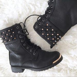 Gold Toe Combat Boots